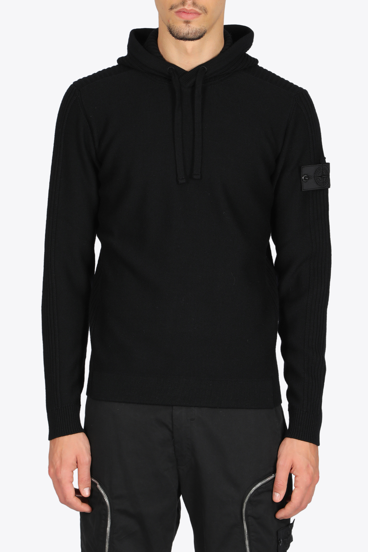 RIBBED HOODIE STONE ISLAND SHADOW PROJECT | -1384759495 | 7319511A5 V0029BLACK