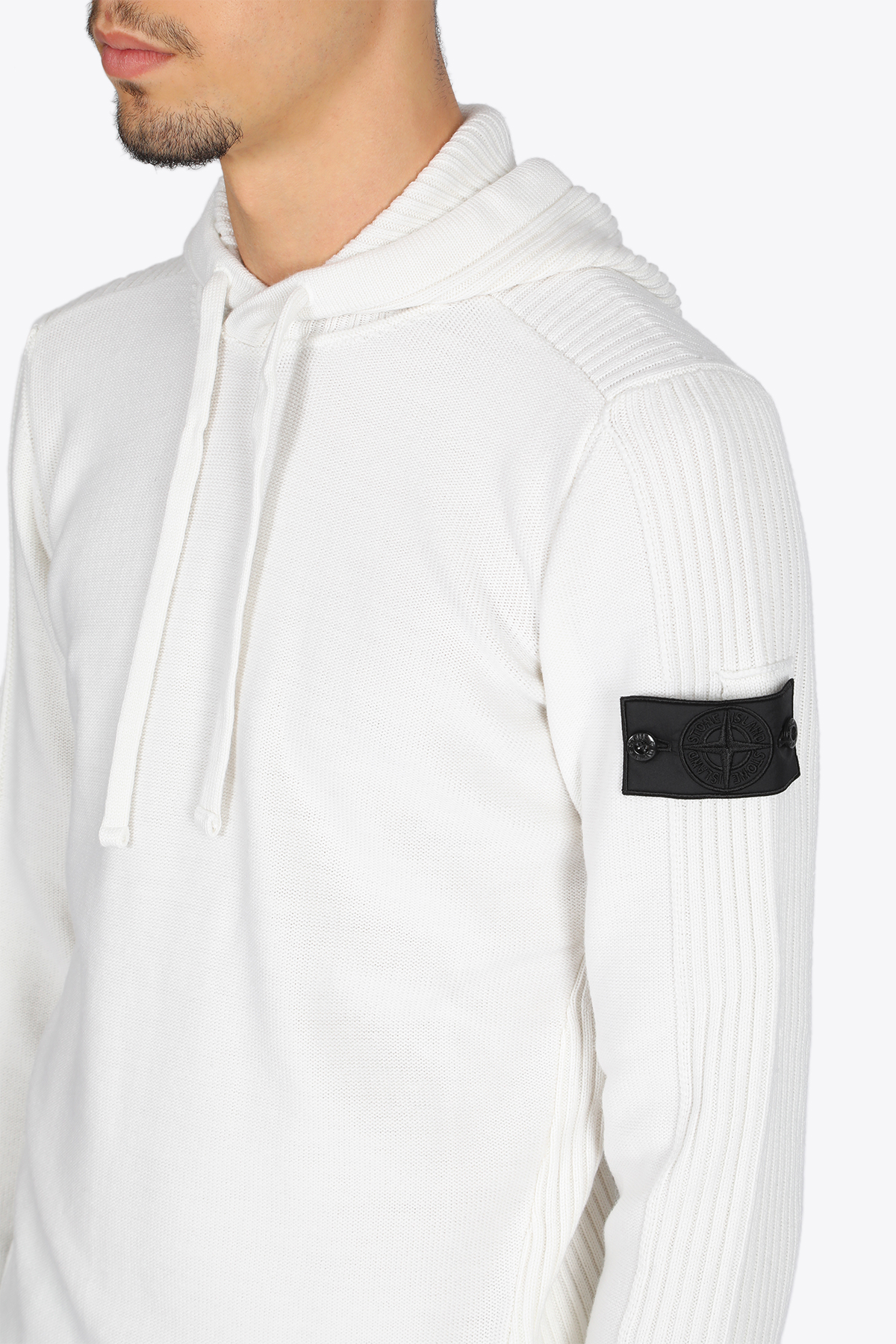 RIBBED HOODIE STONE ISLAND SHADOW PROJECT | -1384759495 | 7319511A5 V0099WHITE