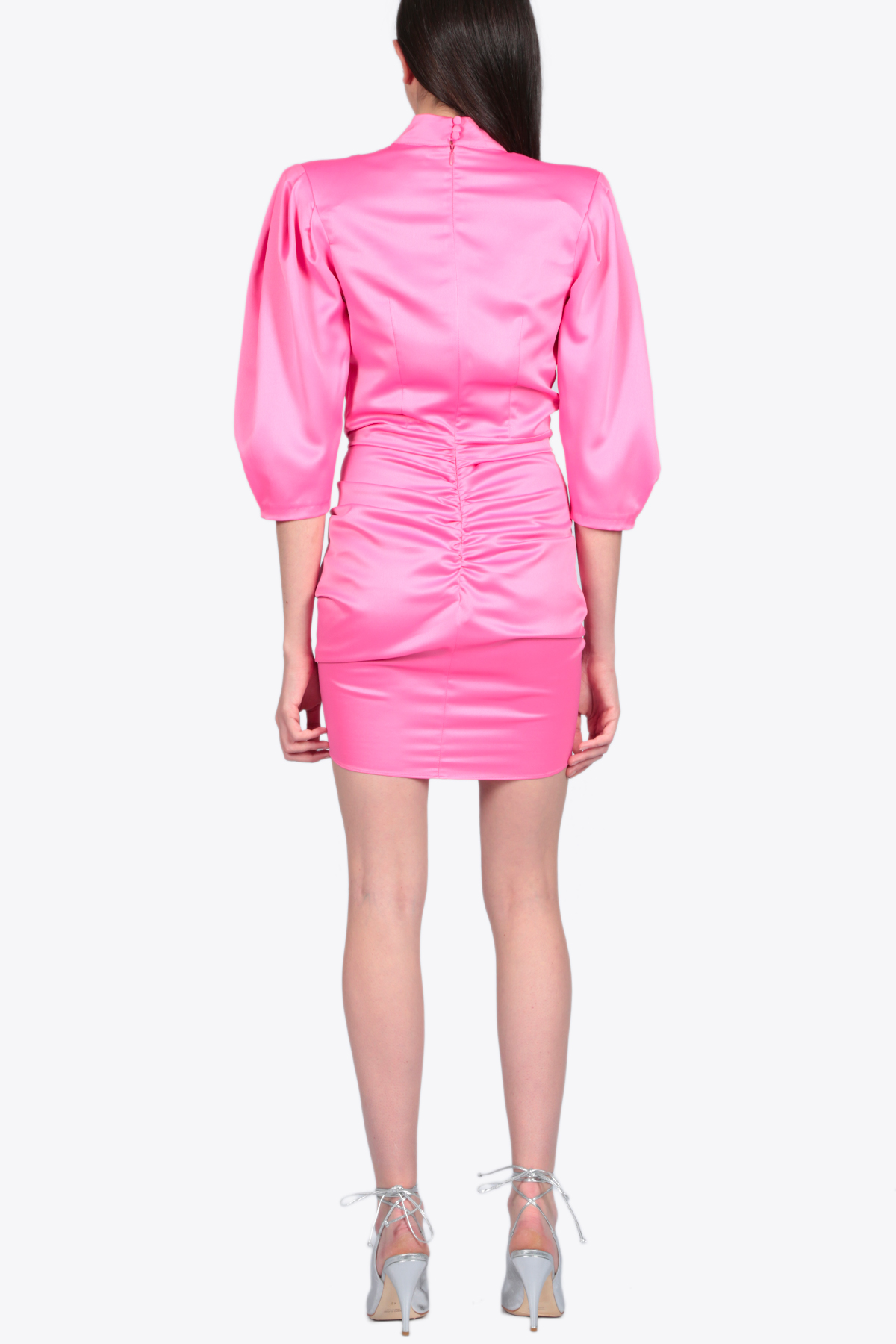 SHORT DRAPED DRESS ACTUALEE | 11 | 4153 AB3690FUXIA