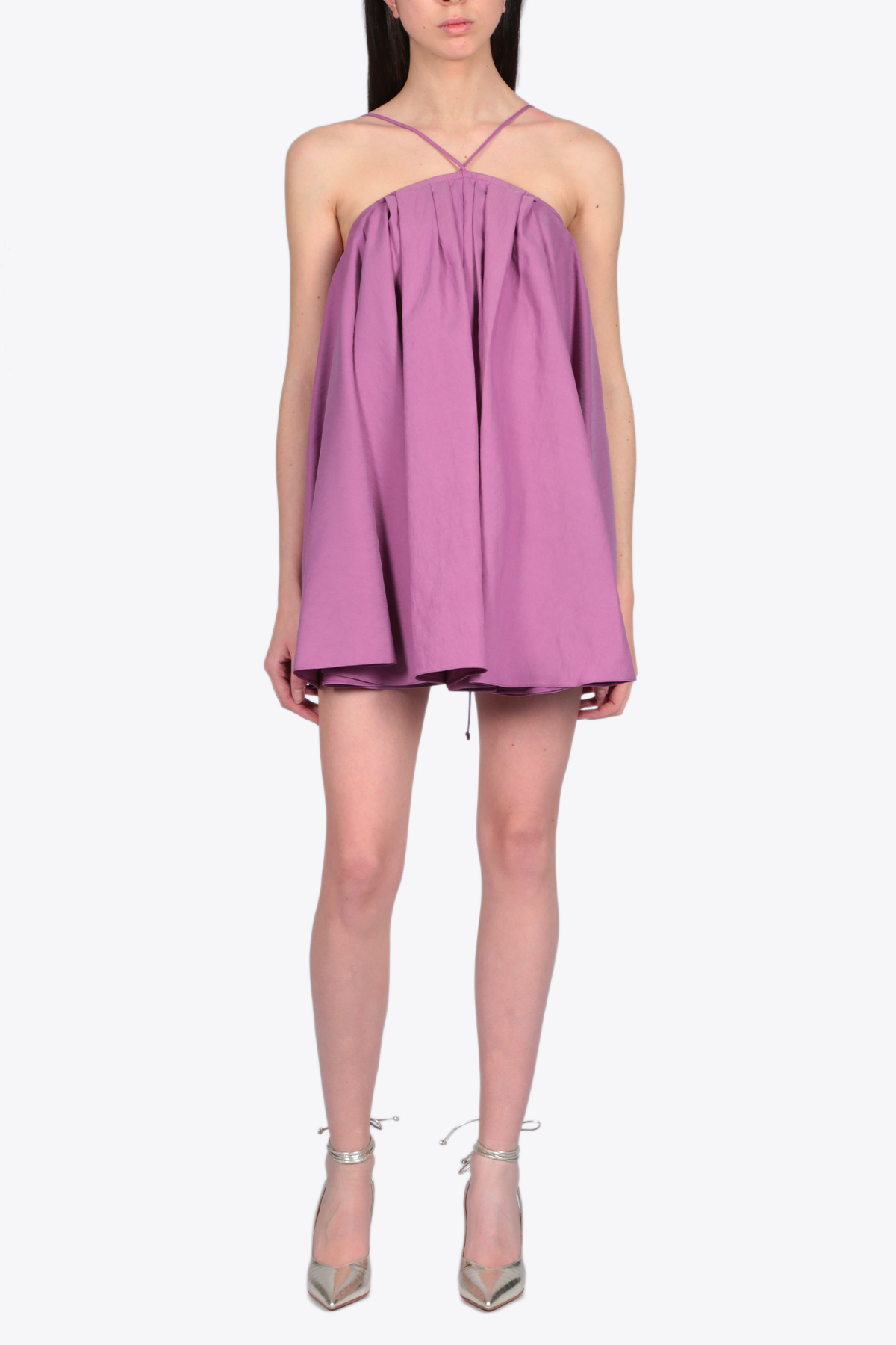 SHORT FLARED DRESS ACTUALEE | 11 | 4157 AB3692PURPLE