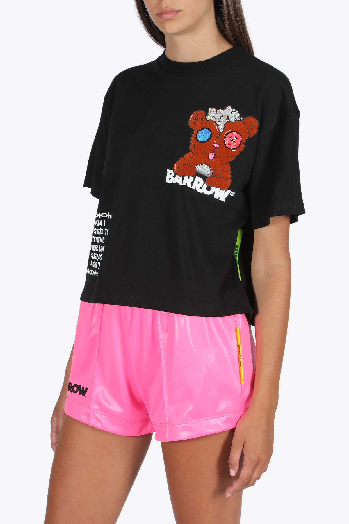 crystal edition cropped t-shirt jersey BARROW | 8 | 026071B CRYSTAL EDITION CROPPED T-SHIRTBLACK