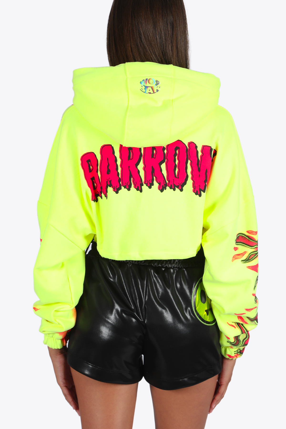 cropped hoodie woman BARROW | -108764232 | 027308 CROPPED HOODIE WOMANYELLOW