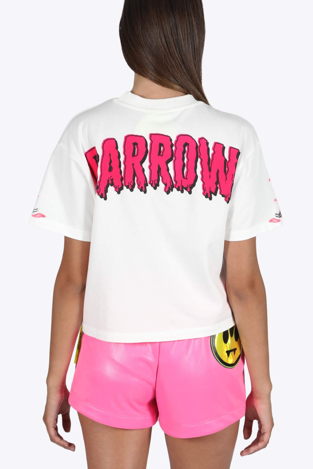 BARROW | 8 | 027309 CROPPED T-SHIRT WOMANWHITE/MULTICOLOR