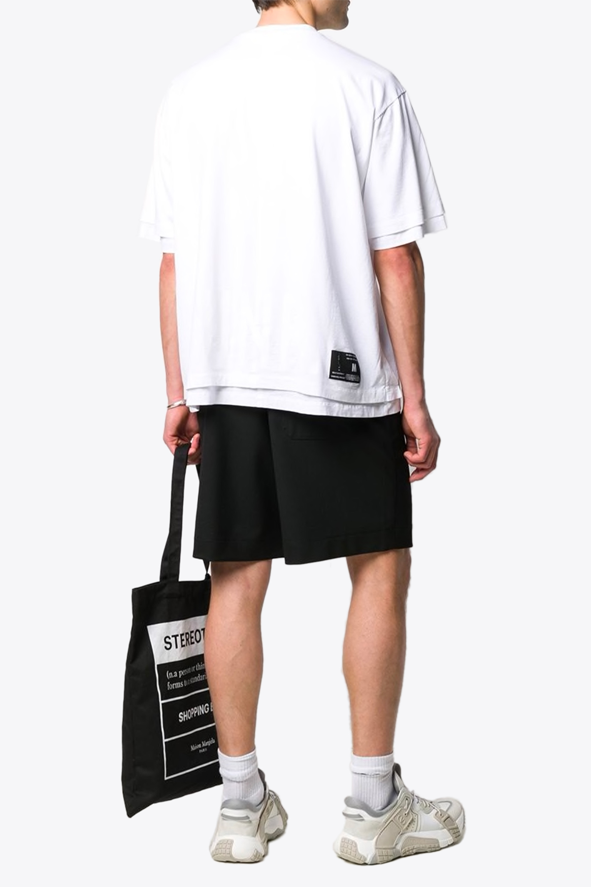 jersey double over t-shirt BEN TAVERNITI - UNRAVEL PROJECT | 8 | UMAA017S20JER001 JERSEY DOUBLE OVER T-SH0101