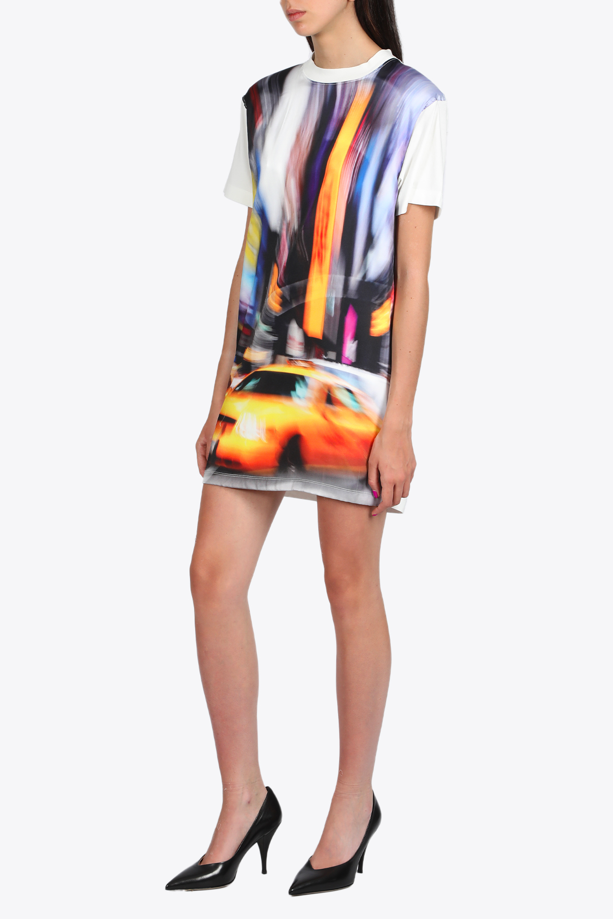 T-SHIRT DRESS SATIN TAXI HERON PRESTON | 11 | HWDB027R20914005 T-SHIRT DRESS SATIN TAX0188
