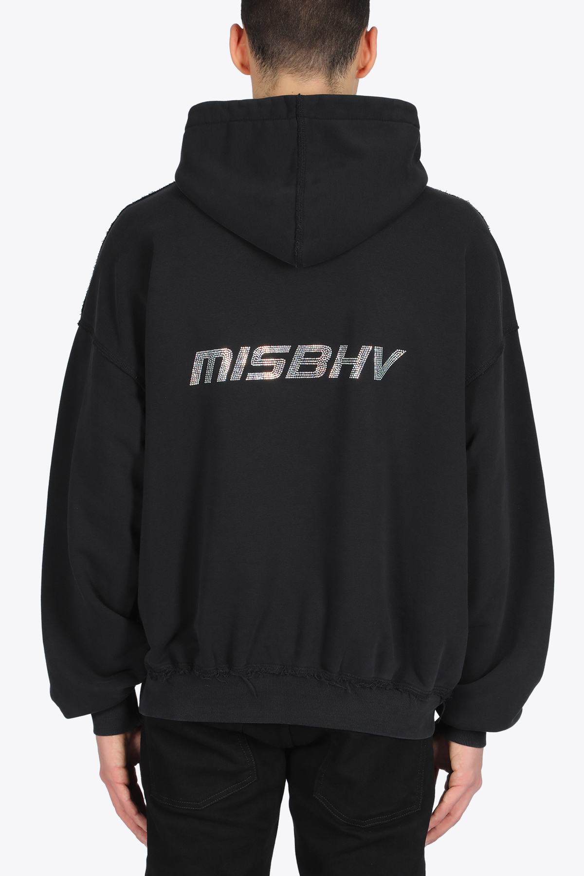 THE HARDCORE PLEASURE RHINESTONE HOODIE MISBHV | -108764232 | 020M215 THE HARDCORE PLEASURE RHINESTONEWASHED BLACK