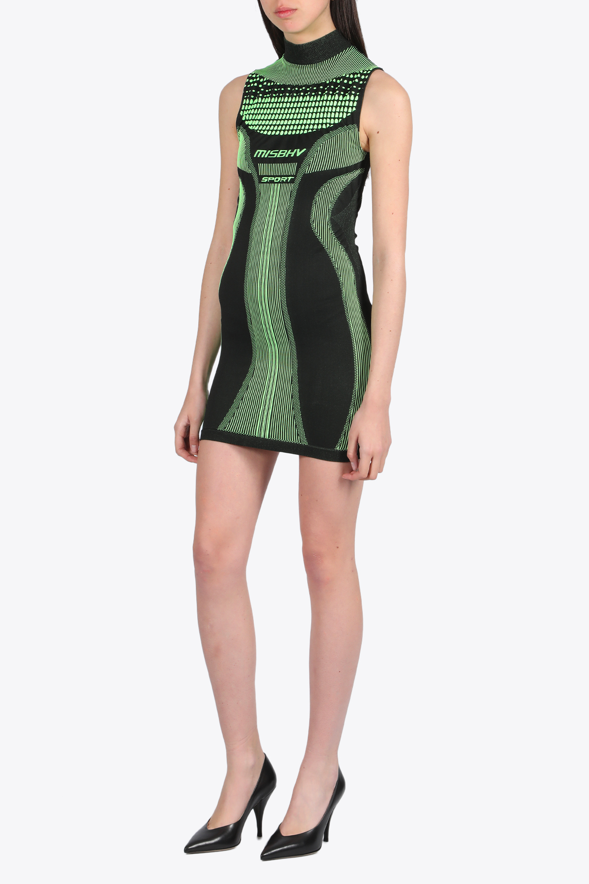 SPORT ACTIVEWEAR MINI DRESS SIGNAL MISBHV | 11 | 020W556 SPORT ACTIVE WEAR MINI DRESS SIGGREEN