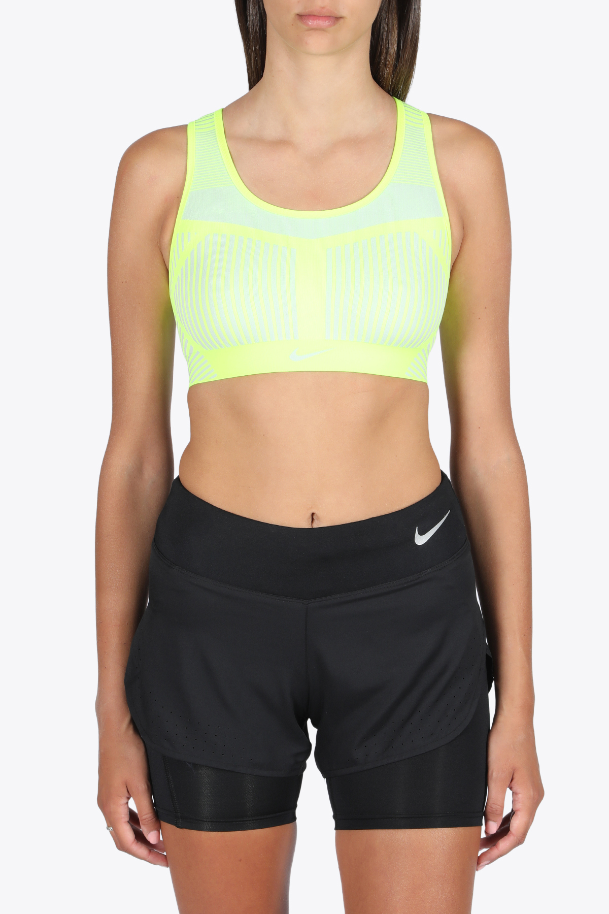 sport bra-top NIKE | 40 | AJ4047-702 TOPYELLOW/GREY