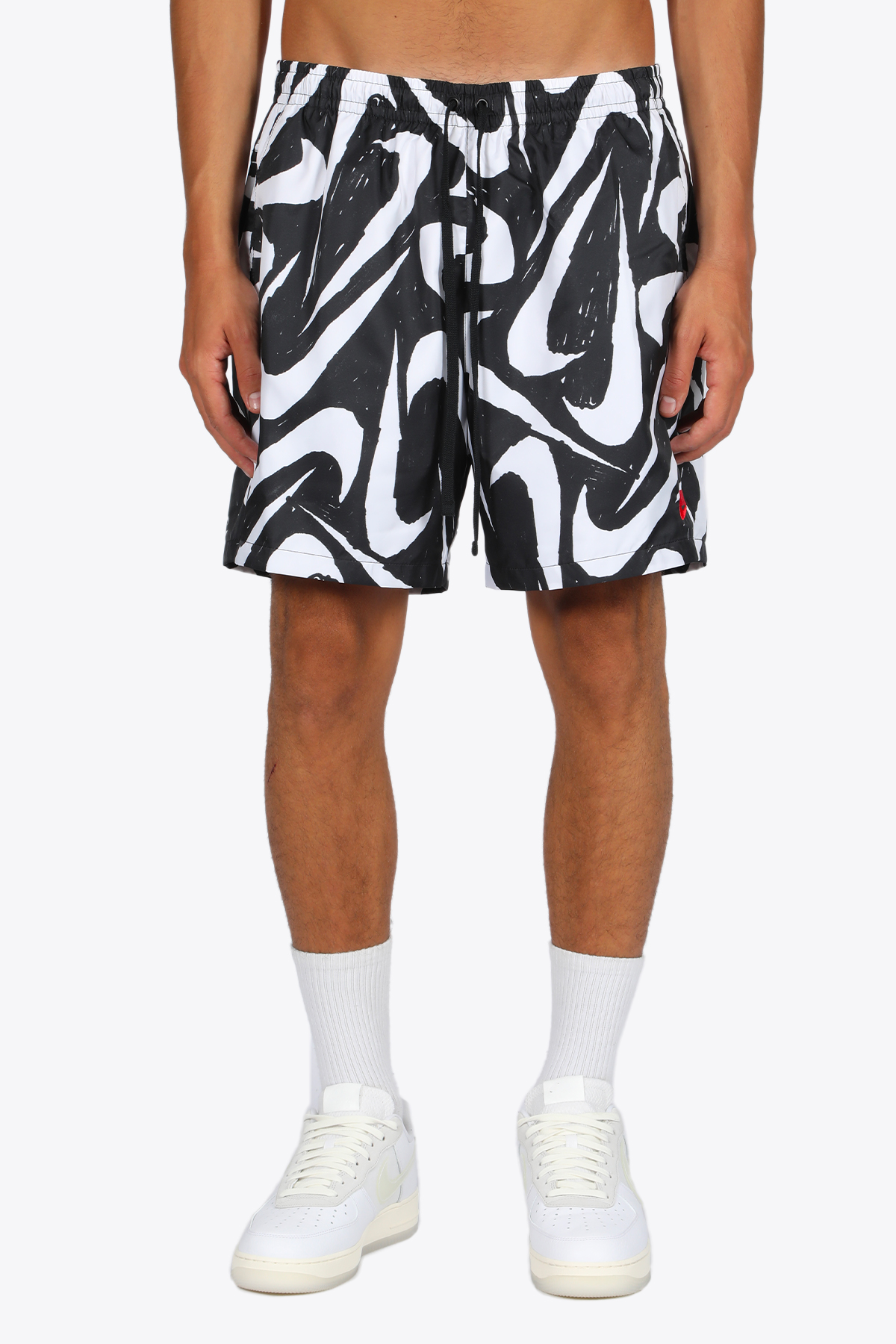 shorts con logo pattern NIKE | 30 | CT0811-010 SHORTSBLACK/WHITE