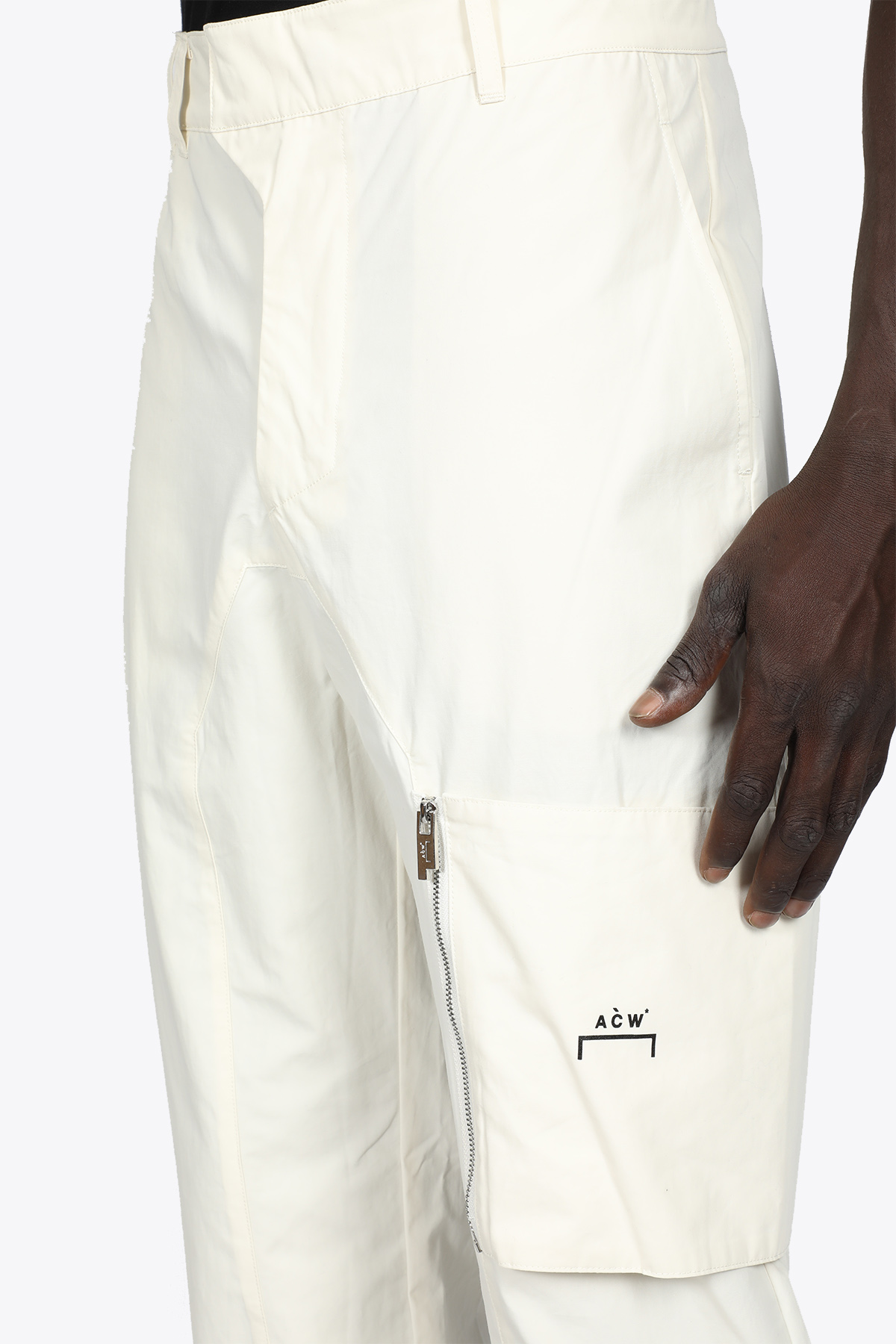 PANTALONE CARGO IN POPELINE PANNA A COLD WALL   9   ACWMB073WARM WHITE