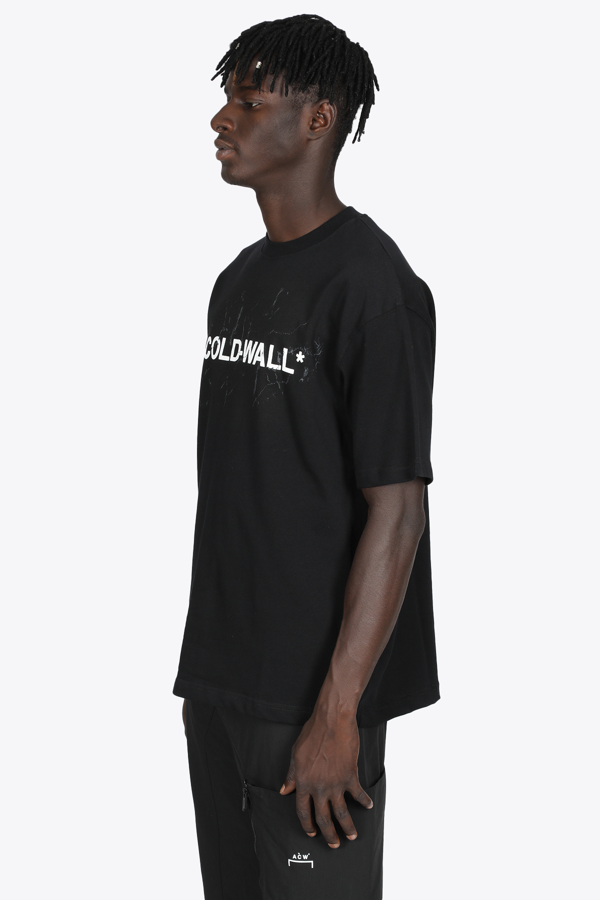 T-SHIRT IN COTONE NERA CON LOGO A COLD WALL | 8 | ACWMTS045 LOGO SS T-SHIRTBLACK