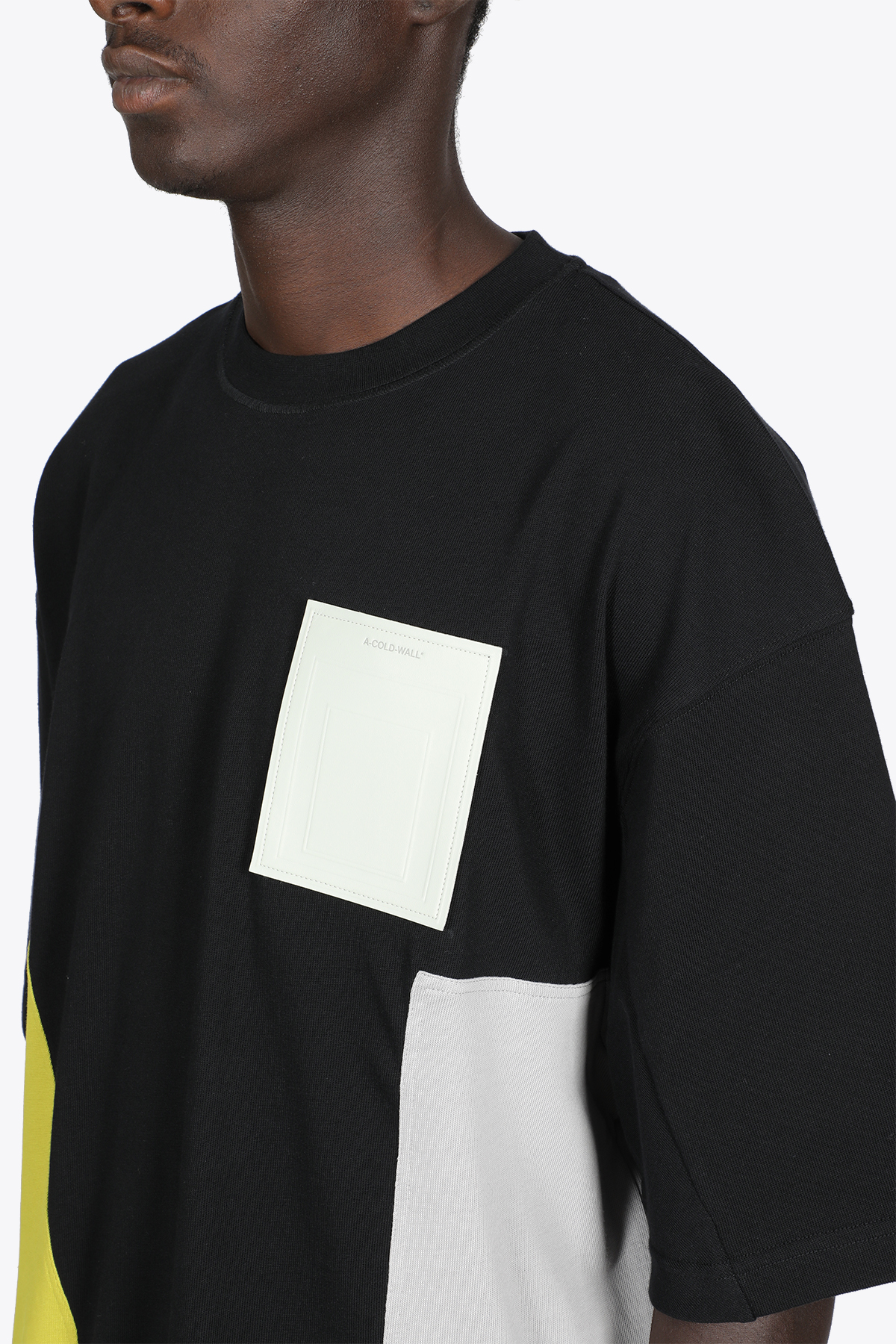 CONTRAST PANEL SS T-SHIRT A COLD WALL | 8 | ACWMTS051B CONTRAST PANEL SS T-SHIRTBLACK