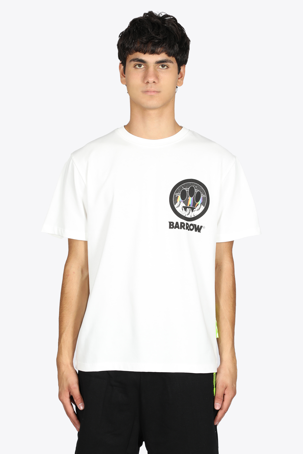 OFF-WHITE COTTON TEE WITH SMILE PRINT BARROW | 8 | 029922 JERSEY T-SHIRT002