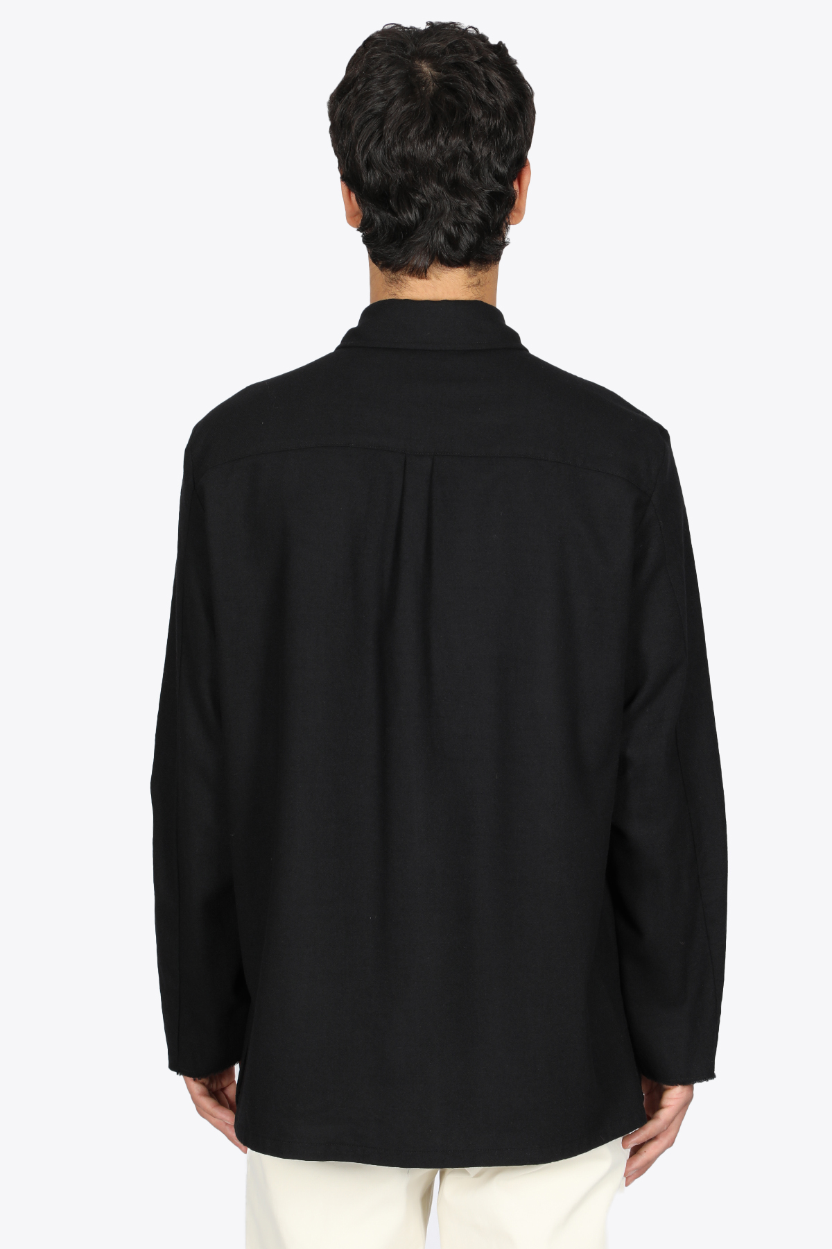 BLACK WOOL OVERSHIRT WITH POCKETS GRIFONI | 6 | GL134021L/15003