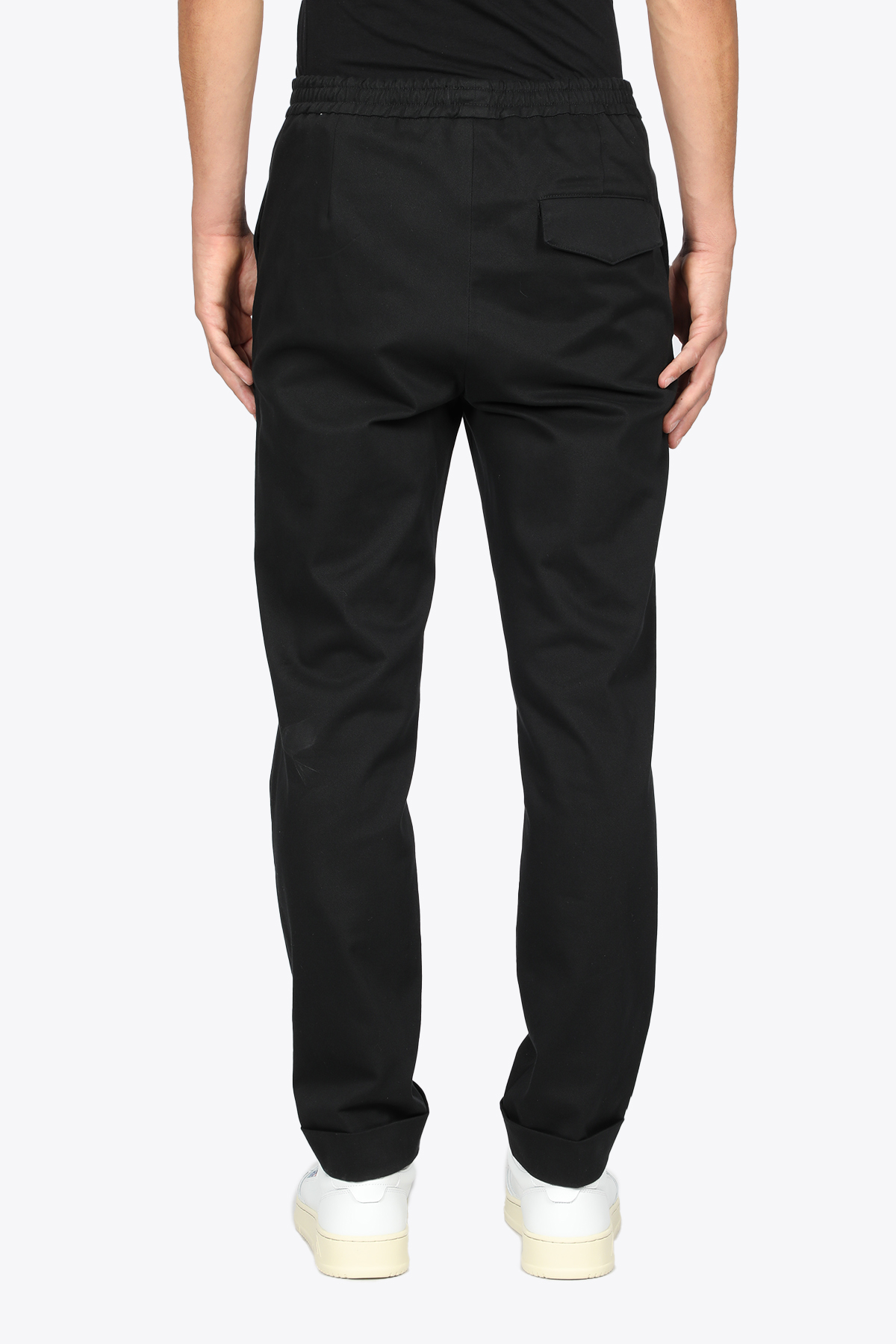 BLACK COTTON PANT WITH ELASTIC WAISTBAND GRIFONI | 9 | GL140007/21003