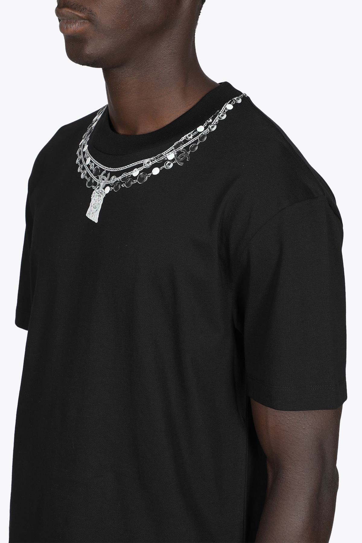 T-SHIRT NERA IN COTONE CON STAMPA COLLANA IH NOM UH NIT | 8 | NUW21231 T-SHIRT NECKLACES PRINTED009