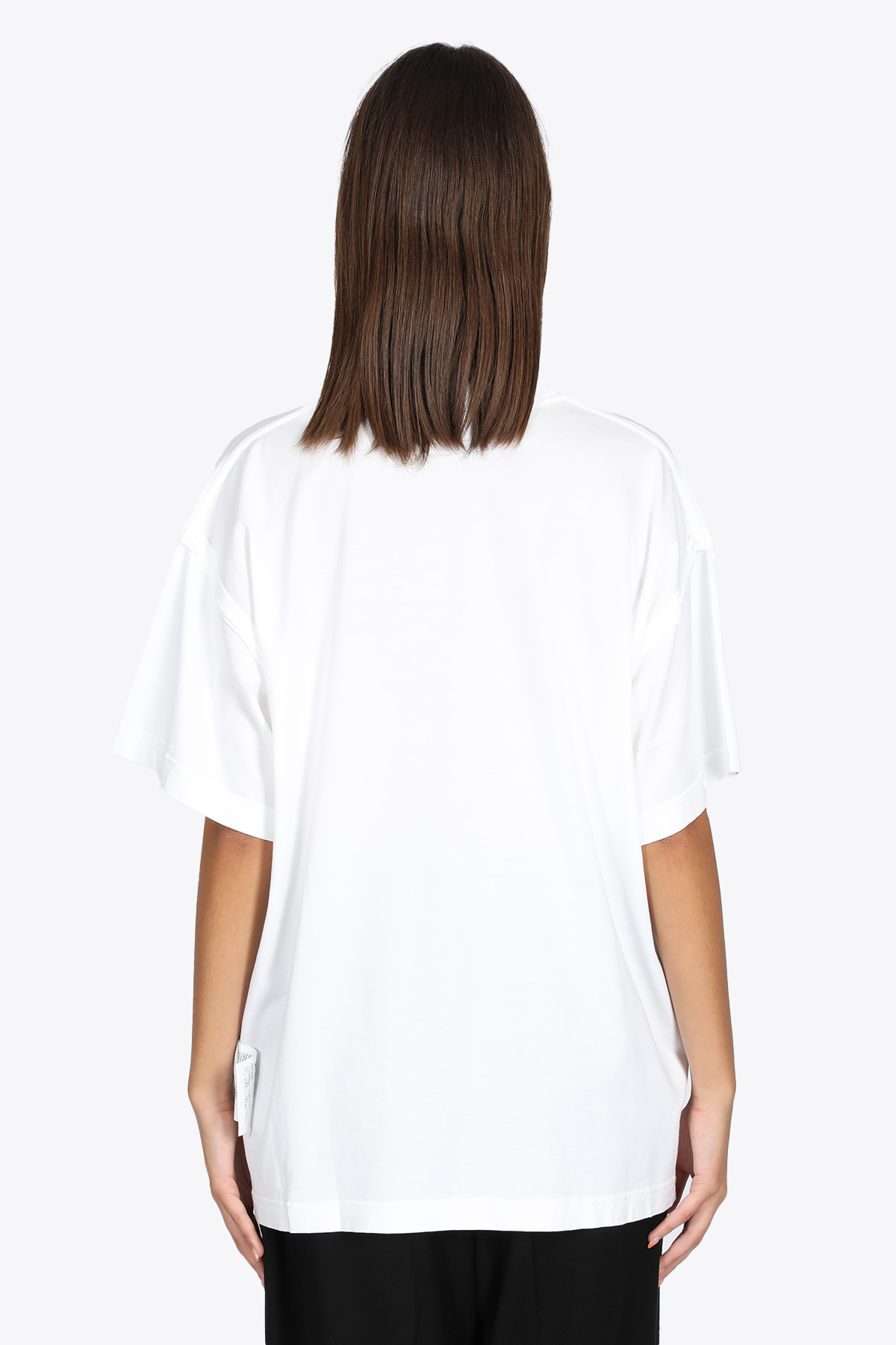 WHITE TEE WITH FRONT LABEL MM6 MAISON MARGIELA | 8 | S62GD0089 S23955100