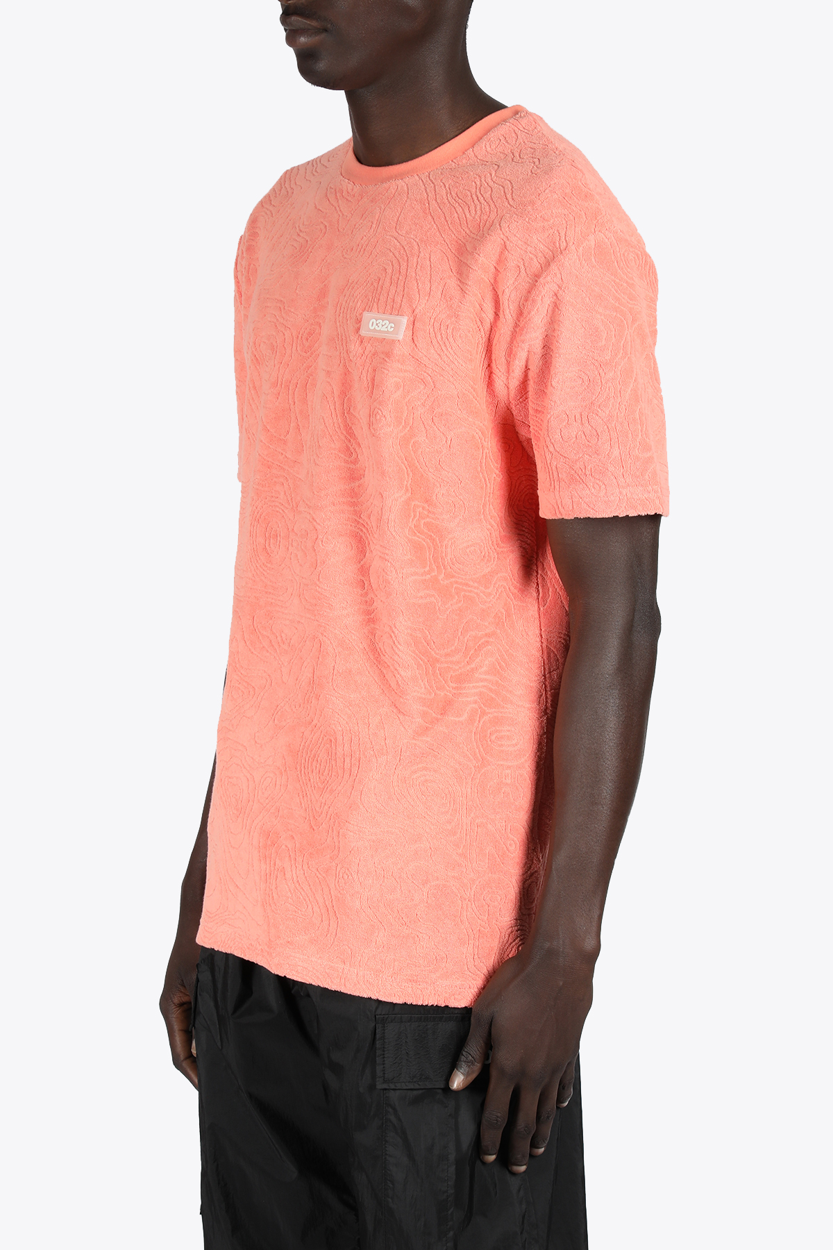 TOPOS SHAVES TERRY T-SHIRT 032C | 8 | SS21-C-1011 TOPOS SHAVES TERRY T-SHIRTCORAL