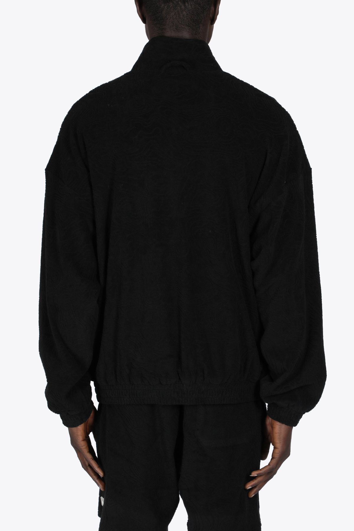 TOPOS SHAVED TERRY JACKET 032C | 3 | SS21-C-2010 TOPOS SHAVED TEEY JACKETBLACK