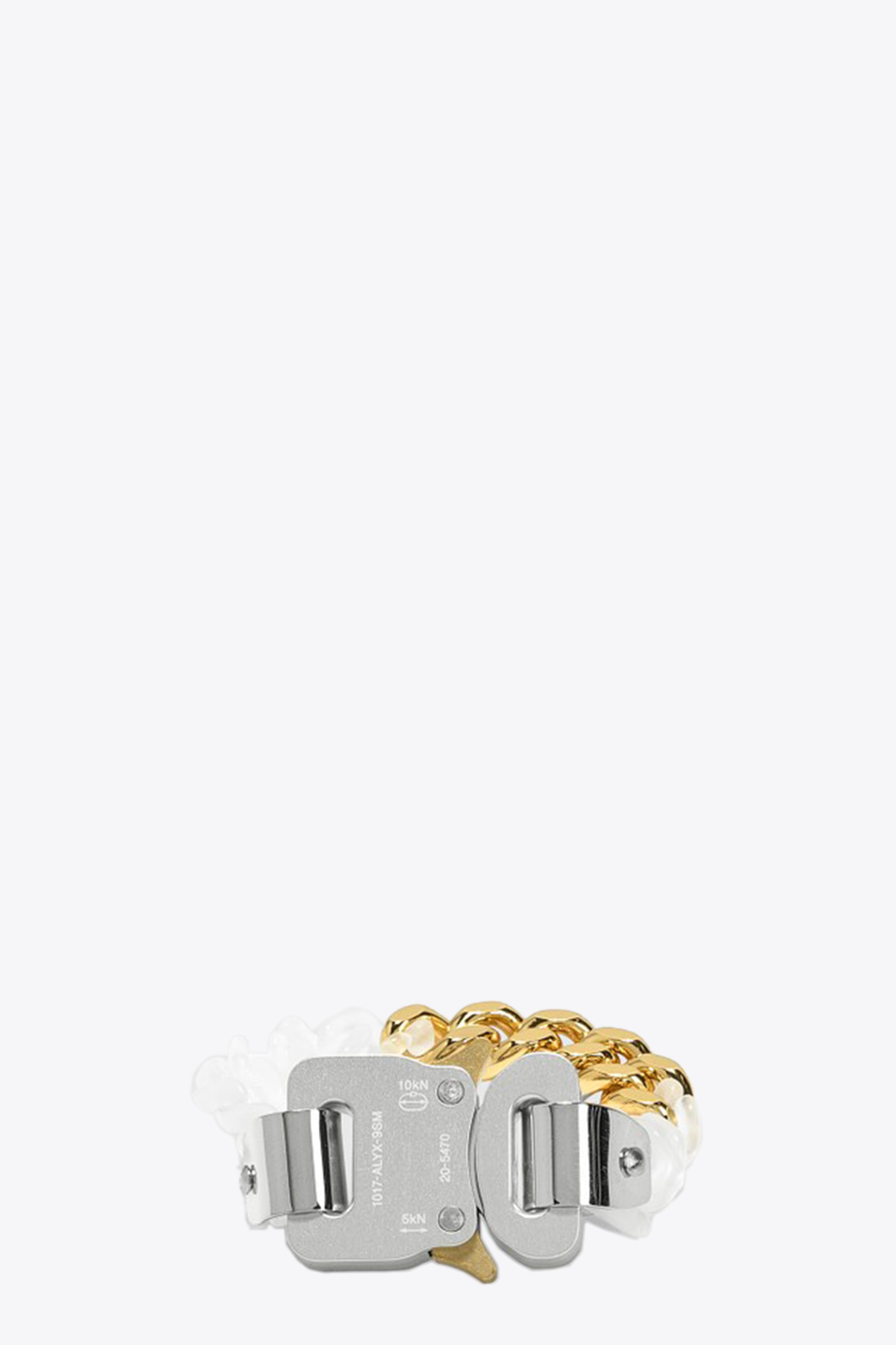TRANSPARENT CHAIN AND METAL BRACELET 1017 ALYX 9SM | 36 | AAUJW0035OT02 TRANSPARENT CHAIN AND METATRANSPARENT/GOLD
