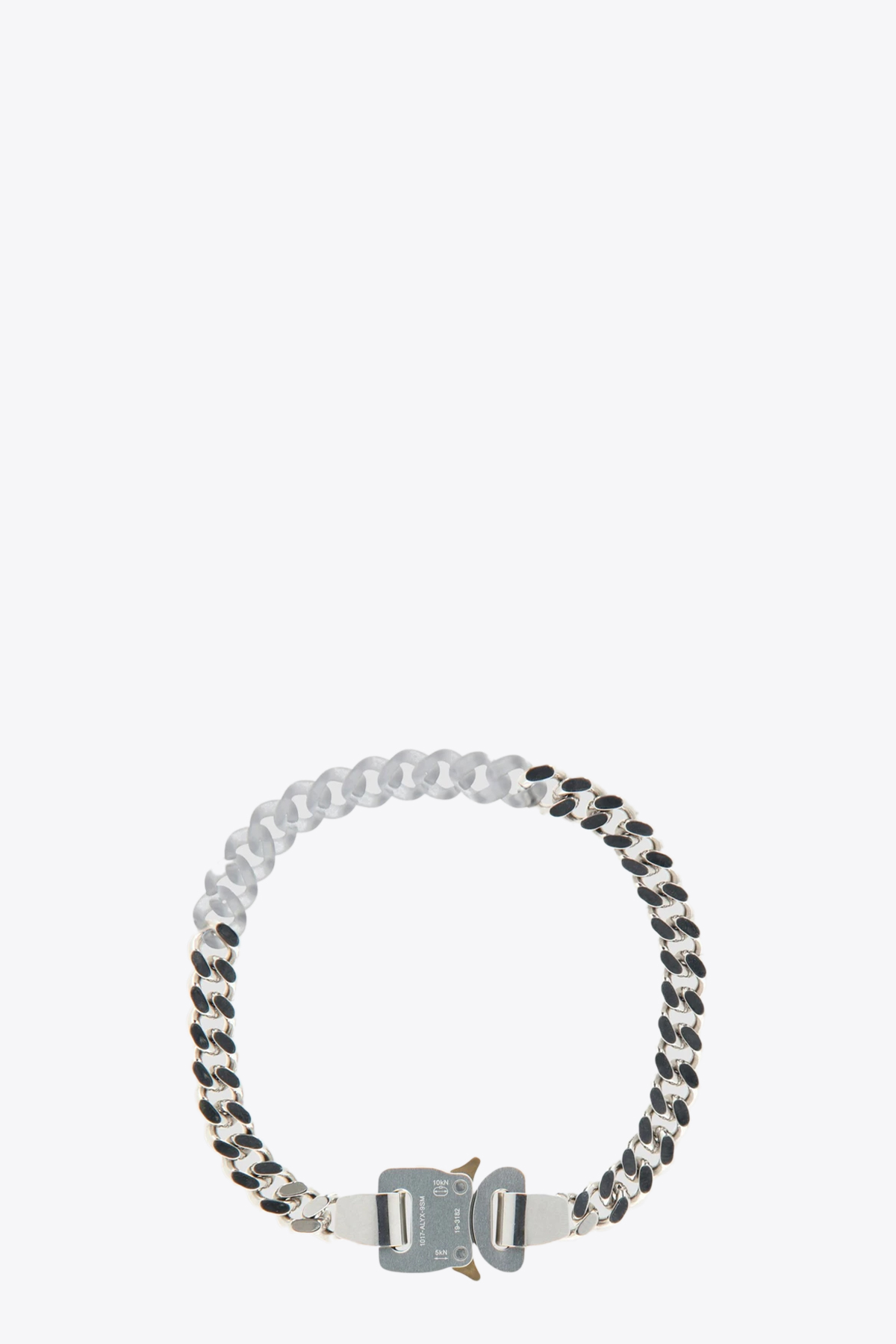 METAL AND NYLON  CHAIN NECKLACE 1017 ALYX 9SM | 35 | AAUJW0059OT02 METAL AND NYLON  CHAIN NECSILVER/TRANSPARENT