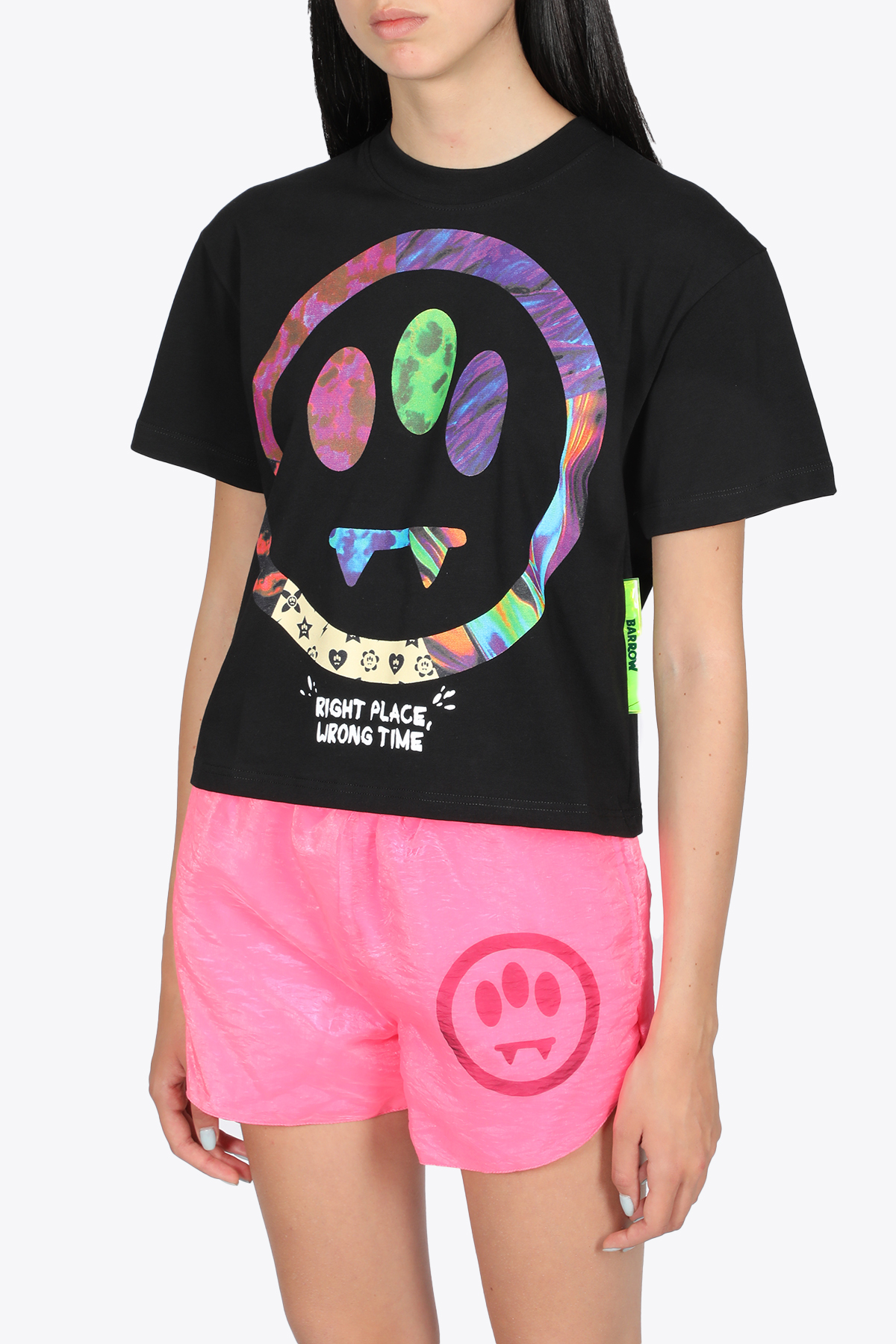 CROPPED T-SHIRT WITH SMILE BARROW | 8 | 029453110