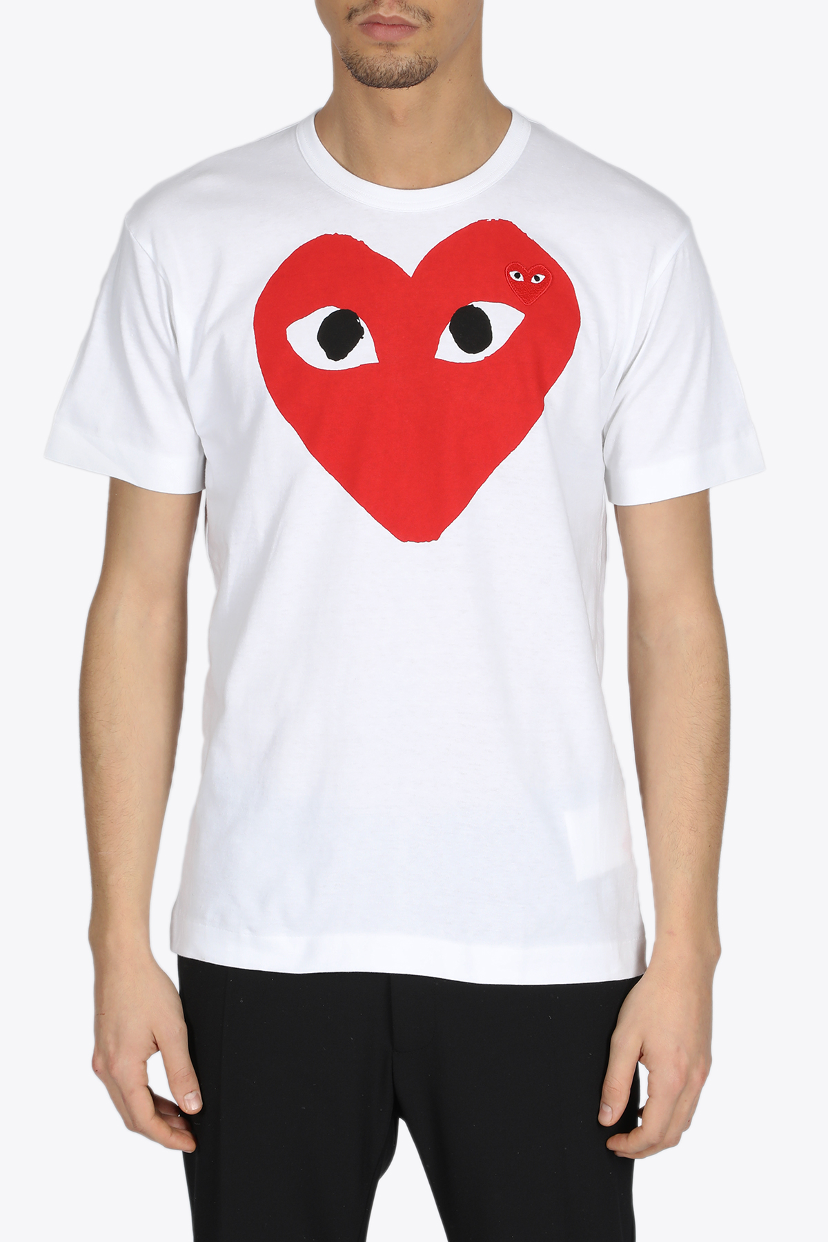 RED HEART TEE COMME DES GARCONS PLAY | 8 | P1T026WHITE