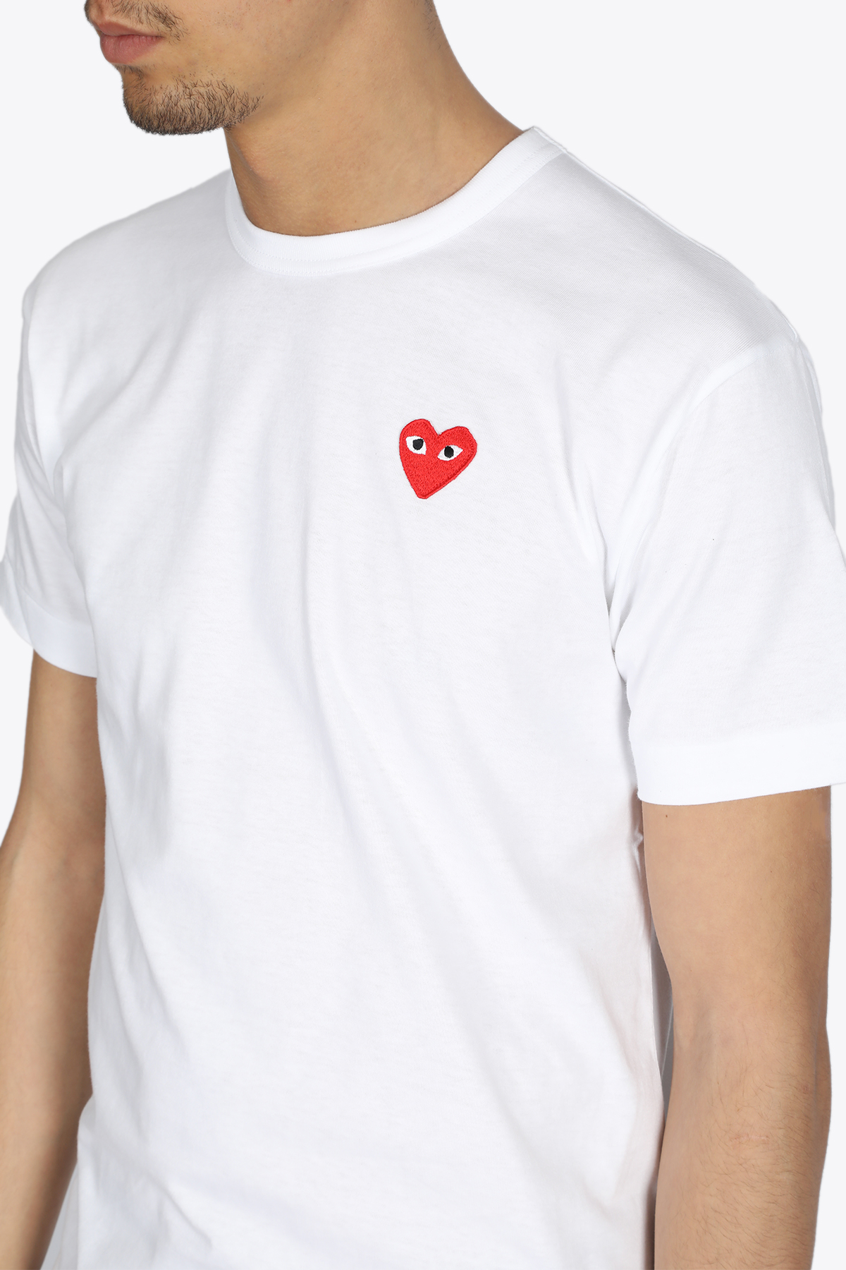 RED HEART PATCH TEE COMME DES GARCONS PLAY | 8 | P1T108WHITE