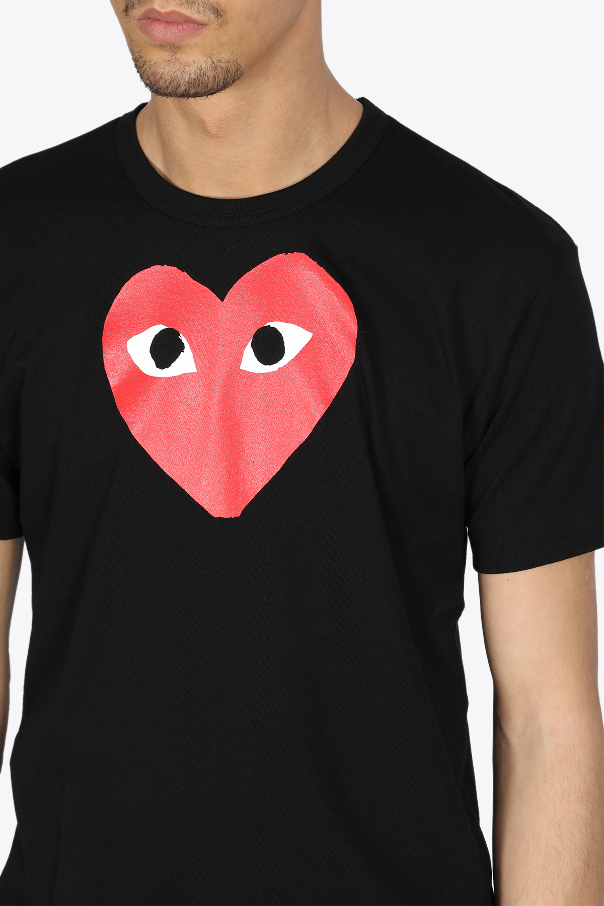 t-shirt stampa cuore rosso COMME DES GARCONS PLAY | 8 | P1T112BLACK