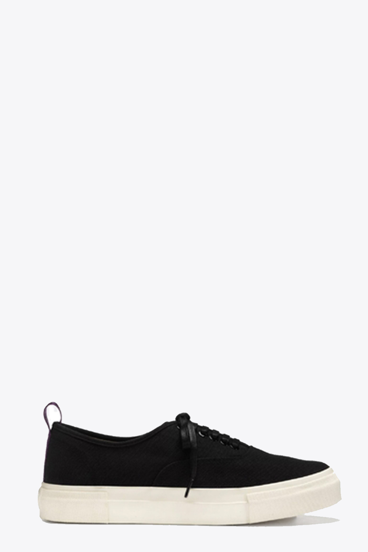 BLACK CANVAS LACE-UP LOW SNEAKER EYTYS | 10000039 | MOTHER CANVASBLACK