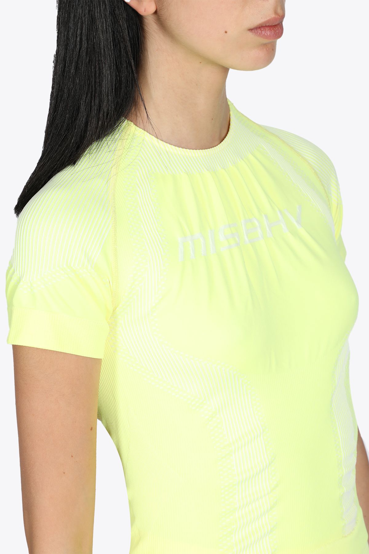 SPORT ACTIVE CLASSIC T-SHIRT MISBHV | 8 | 021W524 SPORT ACTIVE CLASSIC T-SHIRTYELLOW/WHITE