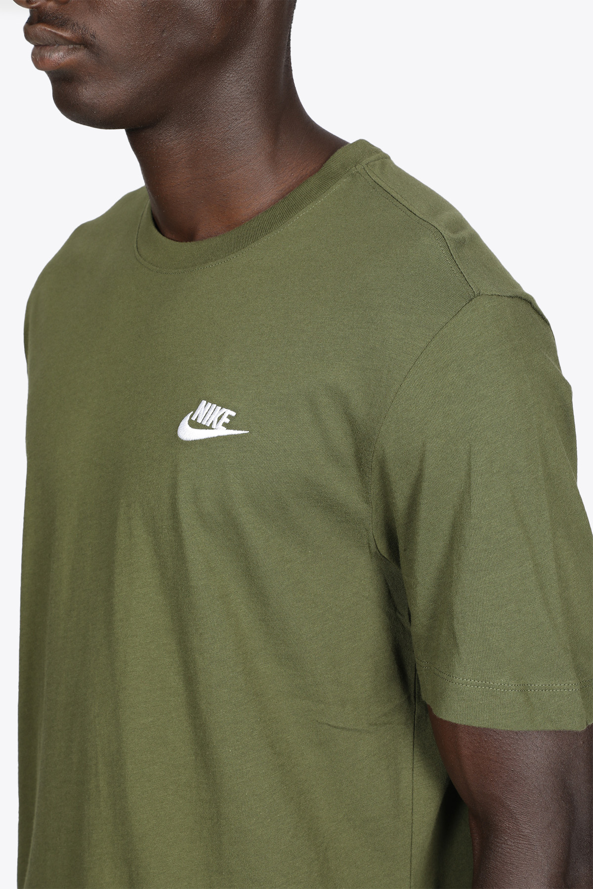 ARMY GREEN COTTON T-SHIRT WITH LOGO NIKE | 8 | AR4997327