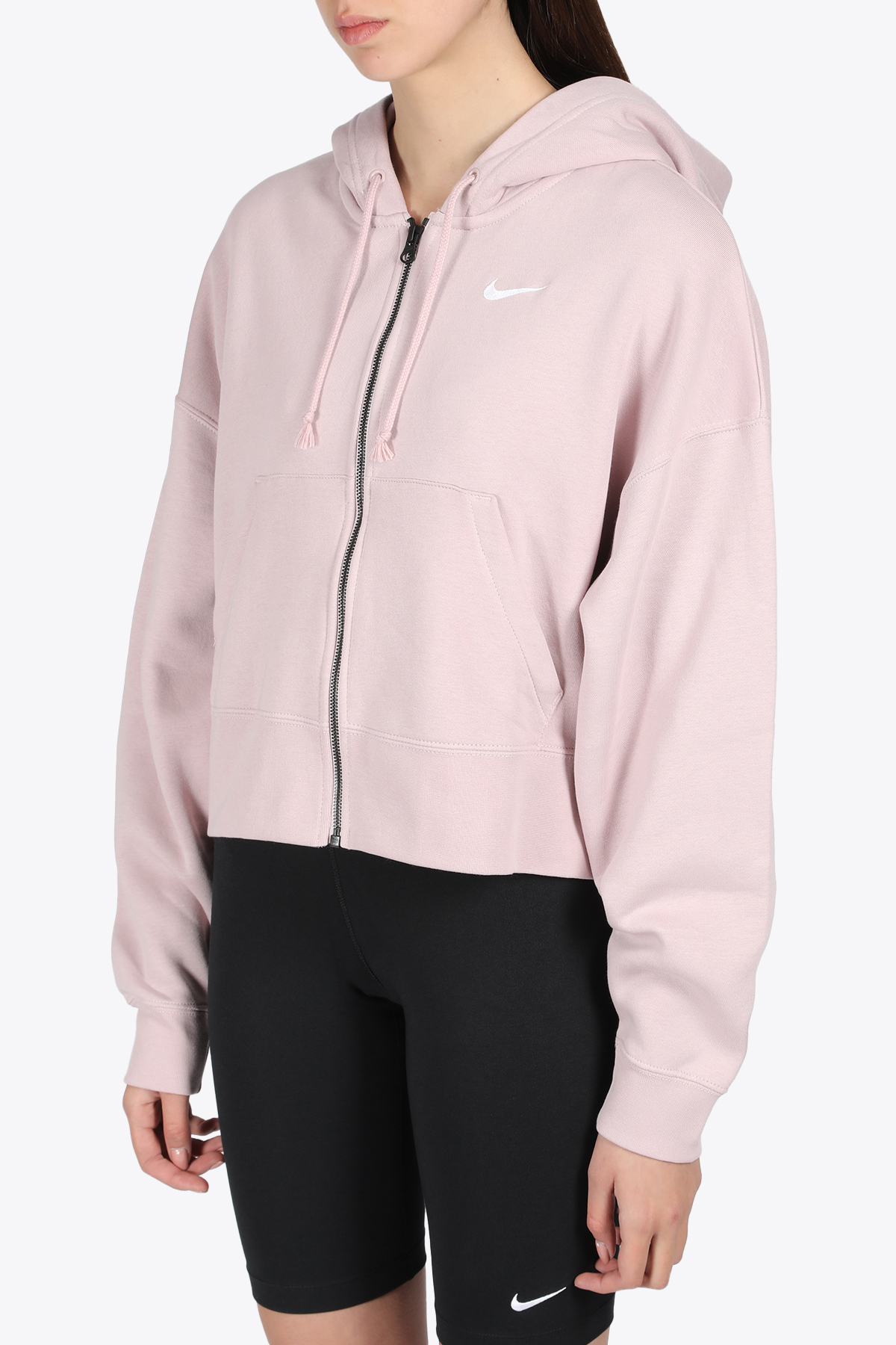 CROPPED HOODIE WITH ZIP NIKE | -108764232 | CK1505-645LILLAC