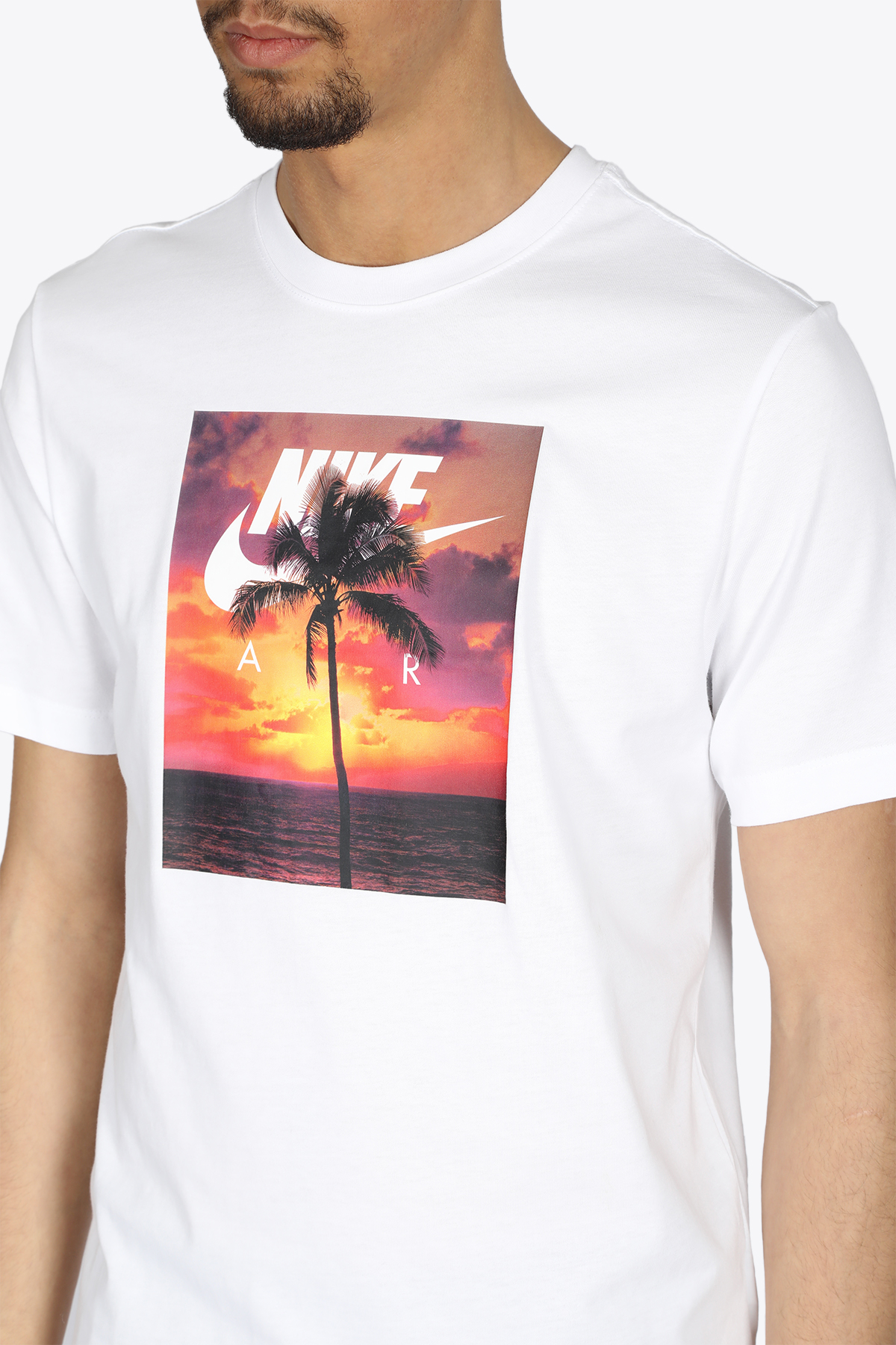 PALM TREE T-SHIRT NIKE | 8 | DB6163-100WHITE/ORANGE/PINK