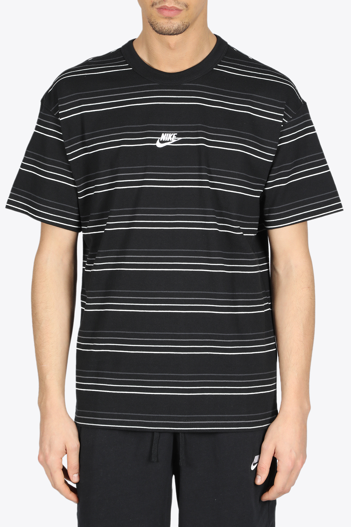 striped tee NIKE | 8 | DB6531-010BLACK/WHITE