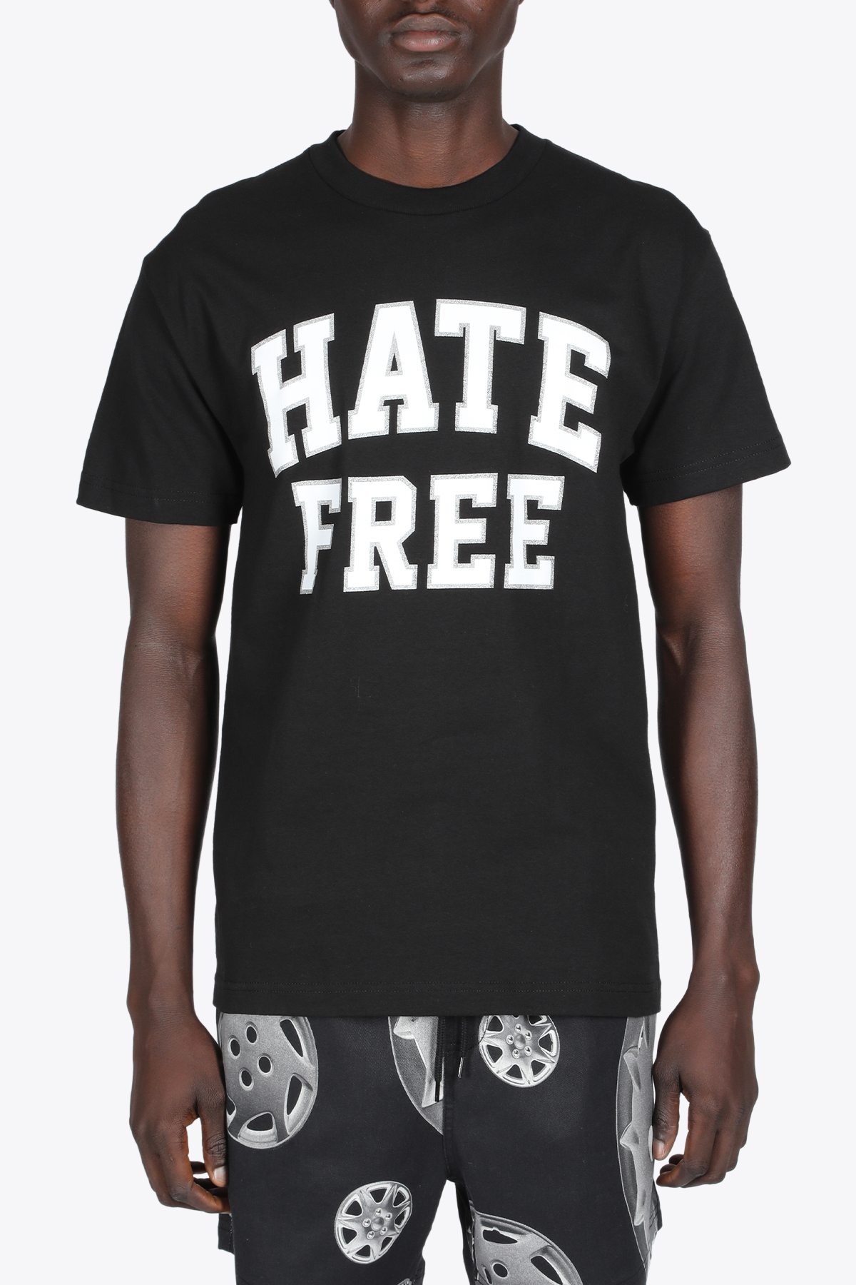 HATE FREE T-SHIRT PLEASURES | 8 | P21SP042 HATE FREE T-SHIRTBLACK