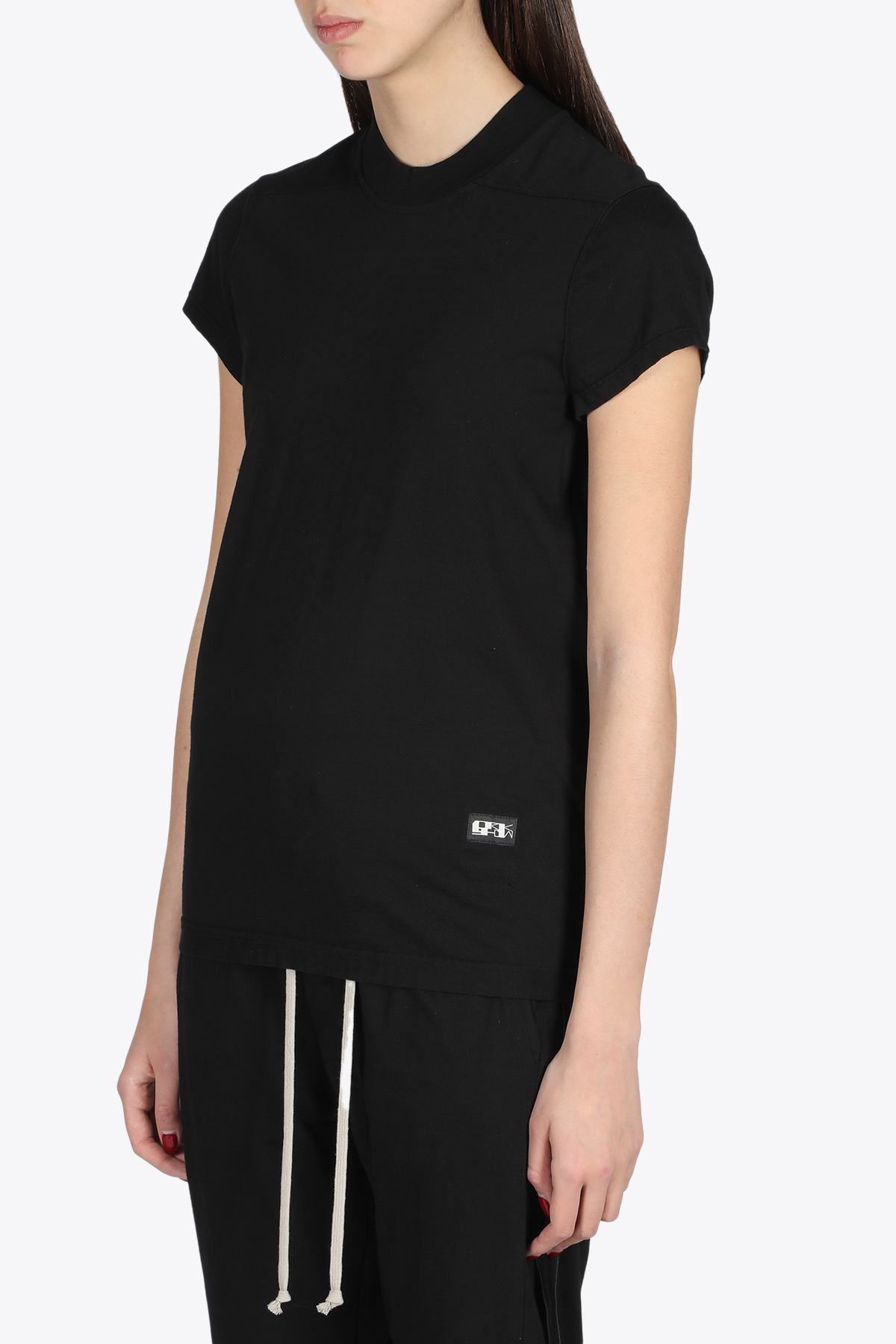 T-SHIRT CORTA IN COTONE NERA RICK OWENS-DRKSHDW | 8 | DS21S2208 RN SMALL LEVEL TEE09