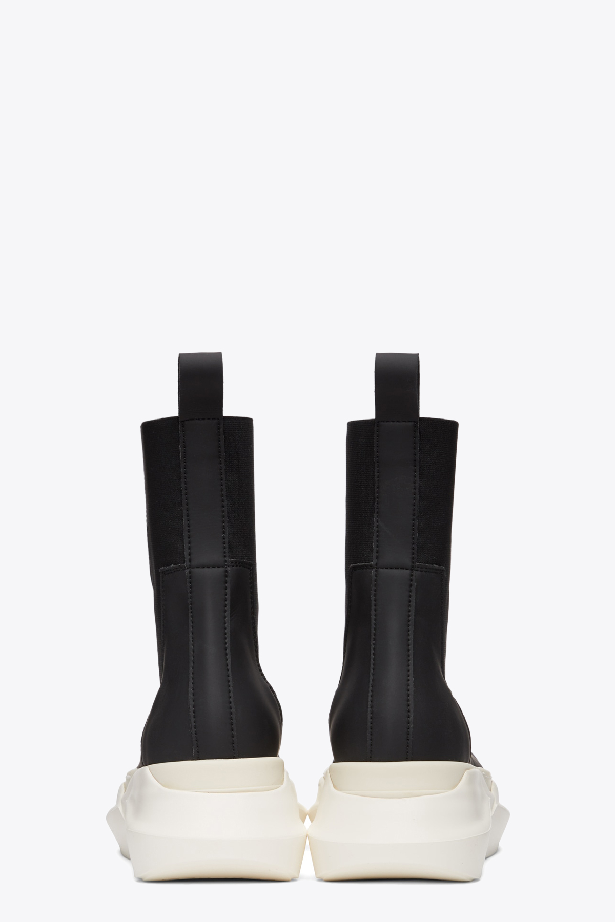 STIVALETTO IN PELLE GOMMATA NERA CON SUOLA PLATFORM ABSTRACT RICK OWENS-DRKSHDW | 10000039 | DS21S2846 RUH BEETLE ABSTRACT91111