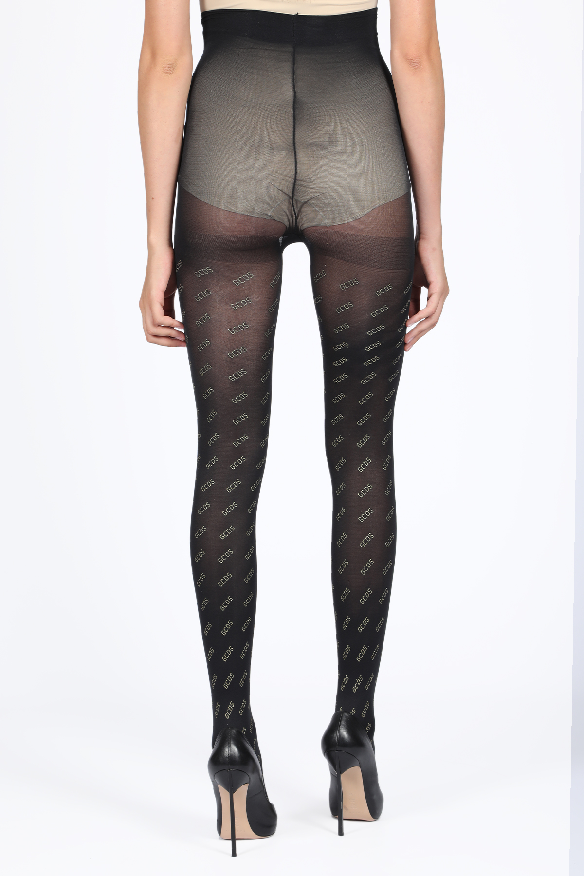 TIGHTS ALL OVER GCDS   33   FW20W010355 TIGHTS ALL OVER GOLDBLACK
