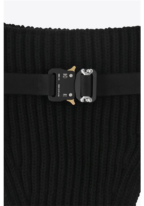 KNIT NECK WARMER W METAL BUCKLE 1017 ALYX 9SM | 77 | AAUSC0002YA01 KNIT NECK WARMER W METAL BBLACK