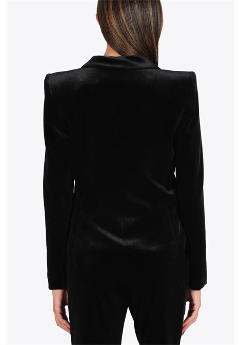 Velvet balzer with shoulder pads ACTUALEE | 3 | 5148 GI856BLACK