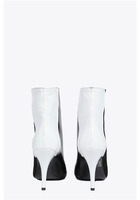 POINTED ANKLE BOOTS ALCHIMIA | 10000041 | 15583BLACK/WHITE