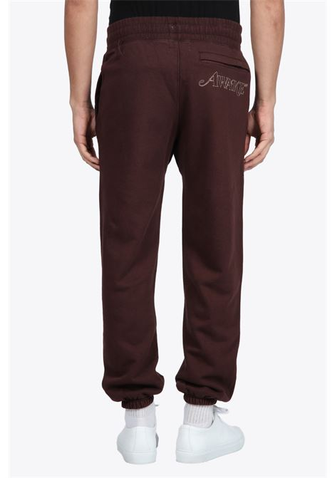 CLASSIC OUTLINE LOGO EMBROIDERED SWEATPANTS AWAKE NY | 9 | PT001 CLASSIC OUTLINE LOGO EMBROIDERED SBROWN