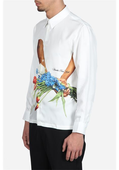 FLOWERS SILK SHIRT AWAKE | 6 | TP001FLOWERS SILK SHIRTWHITE