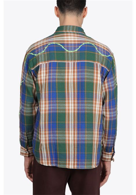 HEAVYWEIGHT BARBED WIRE BACK FLANNEL AWAKE | 6 | TP002 HEAVYWEIGHT BARBED WIRE BACK FLANNGREEN
