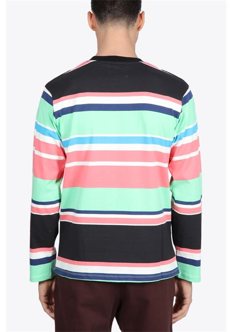 EMBROIDERED LOGO L/S STRIPED TEE AWAKE NY | 8 | TS003 EMBROIDERED LOGO L/S STRIPED TEEBLACK