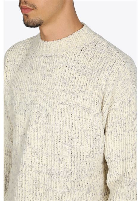 RIB KNIT PULL BONSAI | -1384759495 | KN002IVORY PURPLE