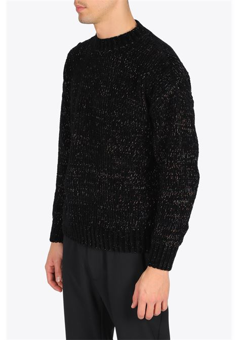 RIB KNIT PULL BONSAI | -1384759495 | KN003BLACK