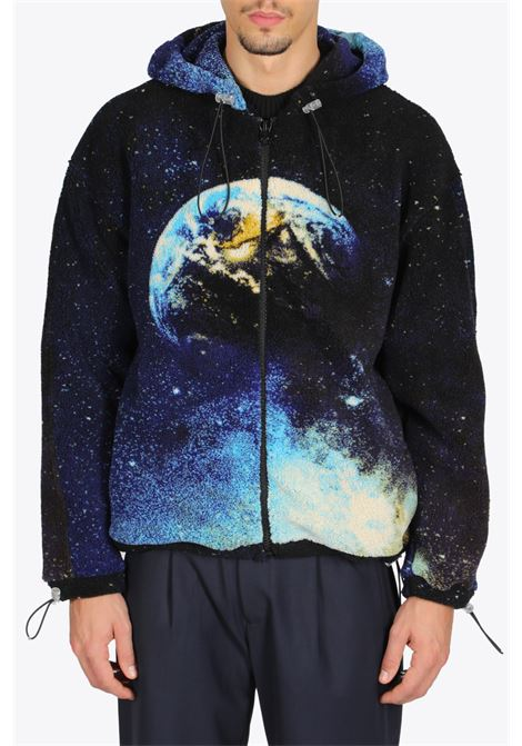 Earth print fleece sweatshirt BONSAI | -108764232 | SW008EARTH