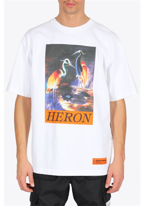 SS T-SHIRT HERONS HERON PRESTON | 8 | HMAA020F20JER0020120 SS T-SHIRTWHITE/ORANGE